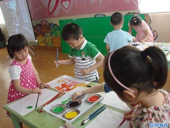 银花苑幼儿园开放美术欣赏活动