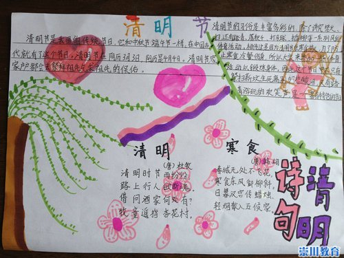 """郭小五年级开展""""缅怀先烈传承文明""""手抄报评比活动图片"""